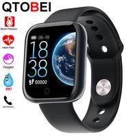 Smart Uhr Band Männer Frauen Blutdruck Sauerstoff Monitor Smartwatch Herz Rate Tracker Rufen Nachricht Erinnerung Sport Mode Uhr-in Smart Watches aus Verbraucherelektronik bei