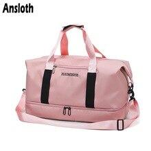 Ansloth Casual Travel Bag Women Waterproof Travel Duffel Lady Gym Bag Large Capacity Shoulder Bag Female Sports Handbag HPS798
