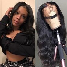 Onda do corpo perucas completas do cabelo humano do laço perucas brasileiras do cabelo humano de remy longo pre arrancadas perucas completas do cabelo humano da parte dianteira do laço para as mulheres