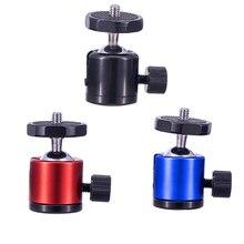 """Mini cabezal esférico universal para cámara soporte de montaje para trípode de cámara, 1/4 """", para Canon, Nikon, DSLR, Dsr"""