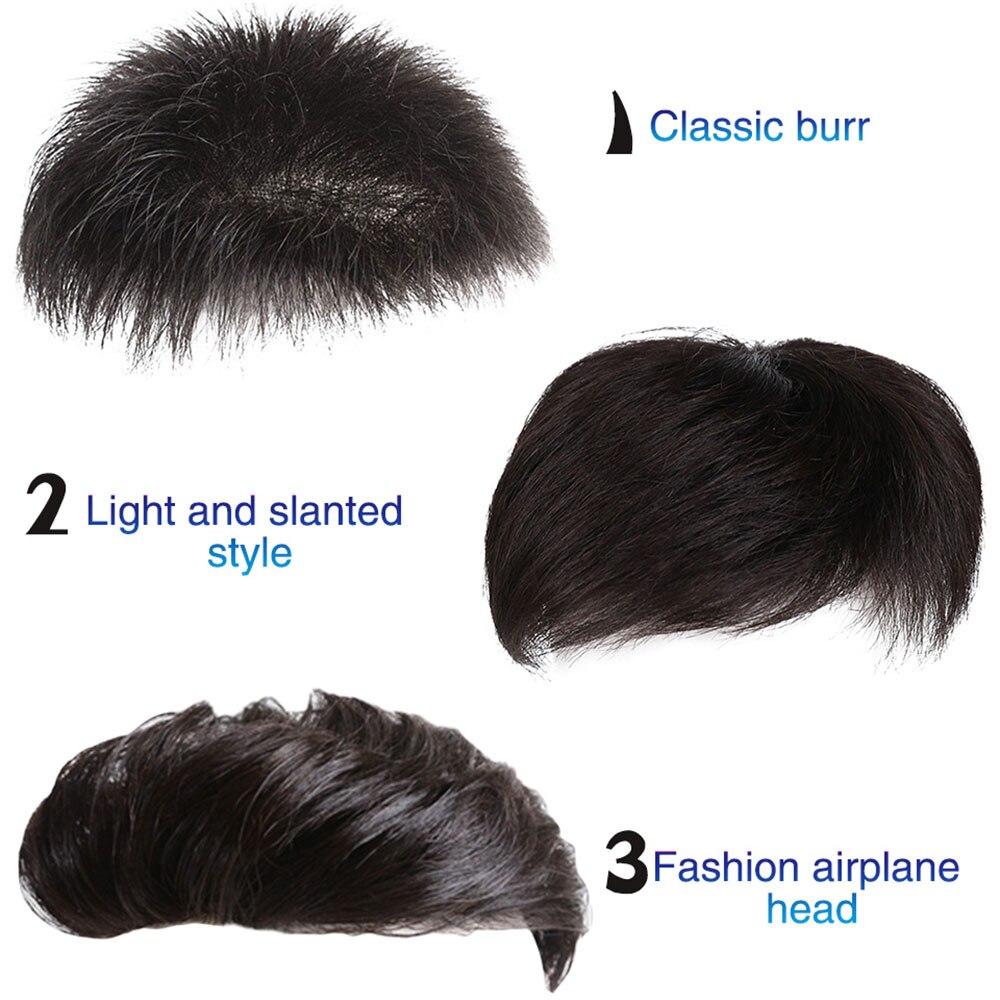 careca testas de cabelo real masculino substituição mão-feita