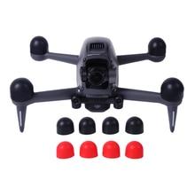 4 قطعة غطاء المحرك ل DJI FPV Drone اكسسوارات كيت حماة سيليكون واقية الحرس قبعات Sunnylife قطع الغيار كومبو الأسود