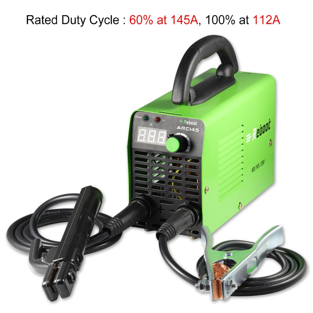 Tools : REBOOT Stick Welder ARC Welding Machine 145A Welder Light Weight 220V Iron Welder MMA Inverter Machine Mini  Portable Welder