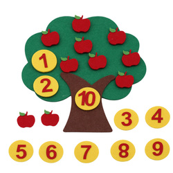 Montessori Math Toy Apple Trees Teach kids development Intelligence Kindergarten Diy Weave Cloth Early Learning Education Toy