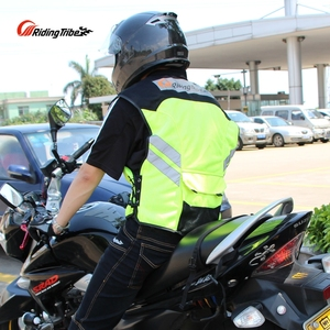 Image 5 - Motorcycle Jacket Reflective Vest High Visibility Night Shiny Warning Safety Coat for Traffic Work Cycling Team Uniform JK 22