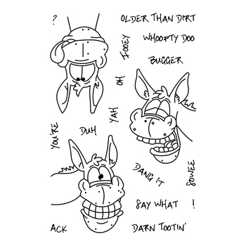 Donkey Transparent Clear Silicone Stamp/Seal for DIY scrapbooking/photo album Decorative clear stamp