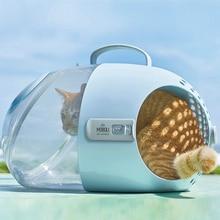 Cat Cages Transparent Space Capsule Shoulder Bag Pet Outside Travel Portable Carry Backpack Plush  Fashion Breathable