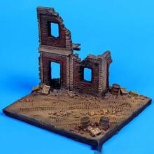 1/72 Resin Die-casting Scene Layout Props Gray Model Scene House Damaged Building Ruin Scene Platform Free Shipping (11×10x9)