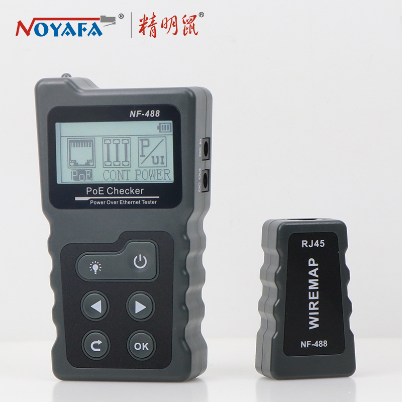 NOYAFA NF-488 PoE power test Network PoE Tester checker Over the Ethernet cat5,cat6 Lan tester network tools PoE Switch test