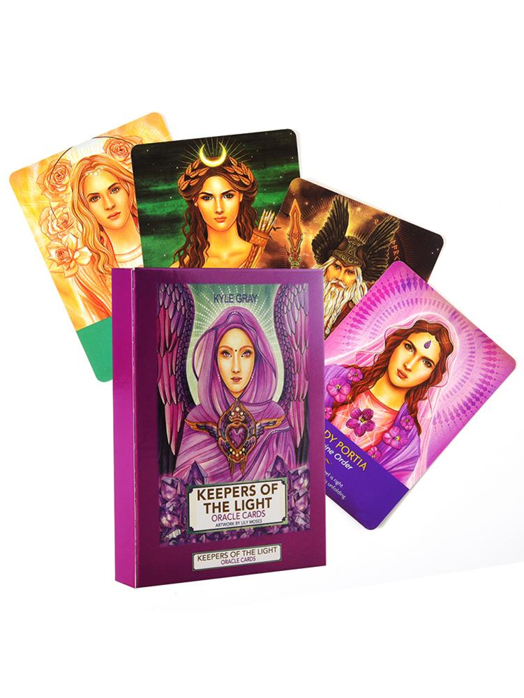 44 Pcs Oracled Tarot Cards Sheets Keepers Of The Light Card Board Deck Games Palying Cards For Party Game Entertainment