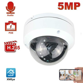 5MP POE IP Camera H.265 Microphone Audio Security Indoor IP66 ONVIF 30M IR Night Vision XMEye - discount item  30% OFF Video Surveillance