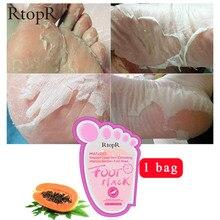 RtopR 1Bag Foot Mask Peel Dead Whitening Moisturizing Exfoliating  Pedicure Remove Dead Skin Heel Socks Peeling Foot Care цена