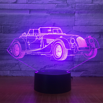 Limousine Car 3D LED Night Lamp Romantic Bedroom Table Lamp Valentines Gifts Luxury car Boys Kids Sleeping Light Dropshipping image