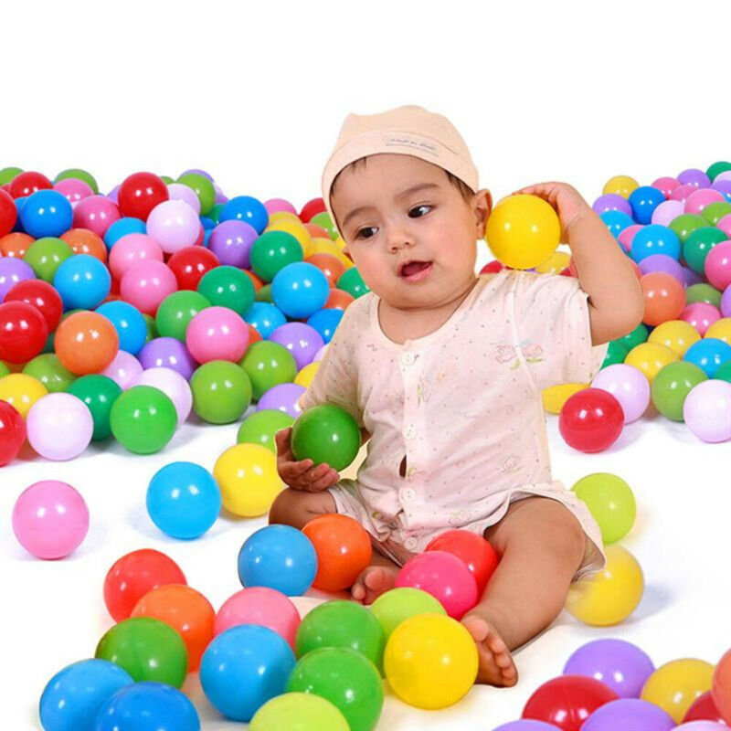 Play Balls Soft Plastic Non-Toxic Phthalate-Free Crush-Proof Pit Balls Baby Kids Toy Swim Toys
