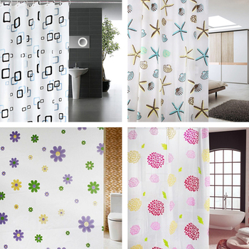 цена на 180x200cm bathroom shower curtain waterproof PEVA fabric washable bathroom shower curtain with hook accessories