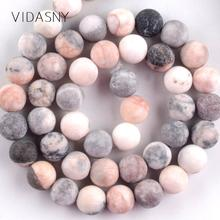 Natural Stone Matte Pink Zebra Jaspers Round Beads For Jewelry Making 4-12mm Spacer Beads Diy Bracelet Necklace 15 #8221 Wholesale cheap Vidasny NONE CLS1006 Fashion Round Shape 91pcs beads one strand 61pcs beads one strand 46PCS beads one strand 37pcs beads one strand
