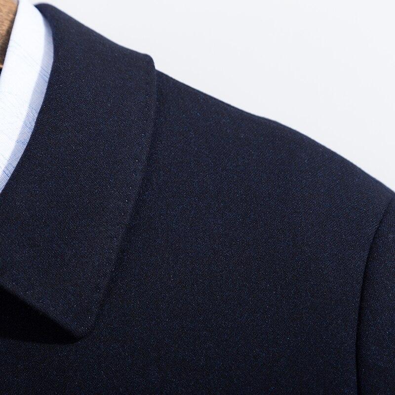 Новые Большие размеры 8XL 7XL пальто мужские зимние модные мужские пальто шерстяные качественные толстые теплые пальто мужские шерстяные пал... - 4