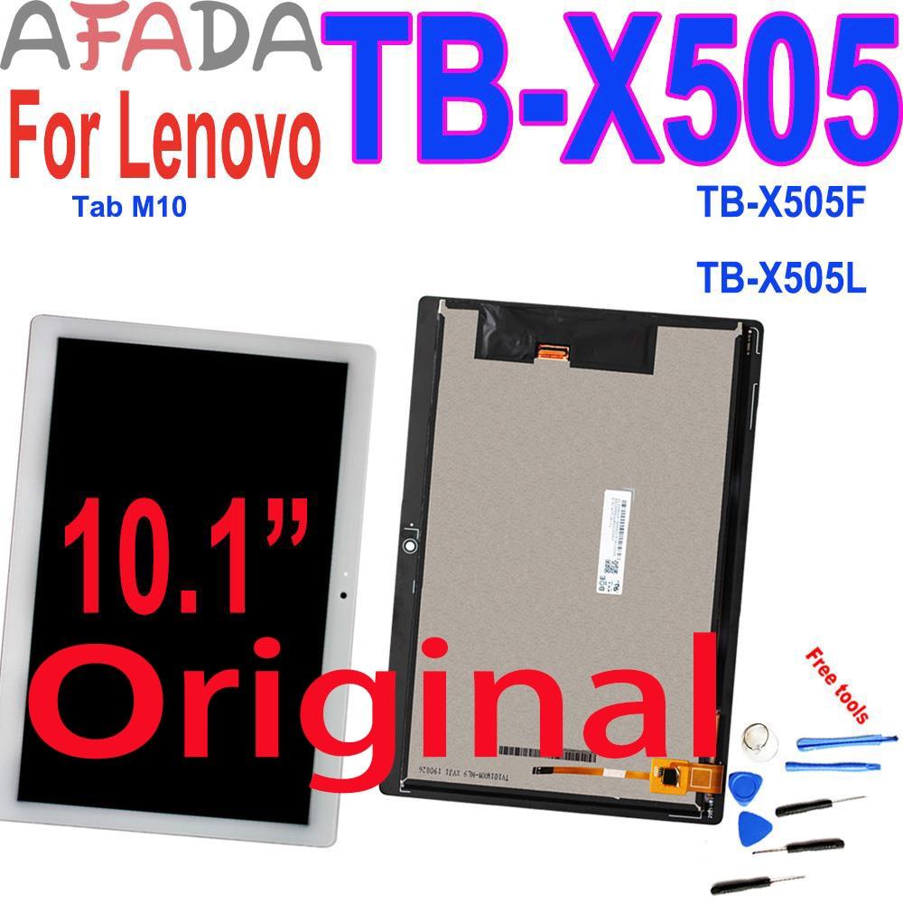 10.1 display display display lcd para lenovo tab m10 TB-X505 x505f TB-X505L x505 montagem de vidro da tela toque digitador peças reparo substituição