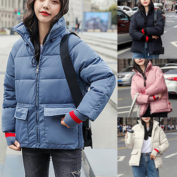 Winter Warm Coat Women's jacket parka Women's Stand Collar Thick Warm Loose Coat Down Jacket women's Down Parka Women parka#0902 image