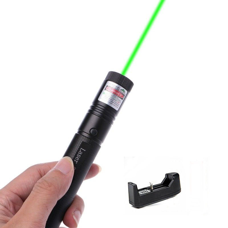 Banggood G301 5mW Green Straight Dot Line Laser Pen Pointer 301 Lazer Adjustable Focus Visible Beam With AC Charger