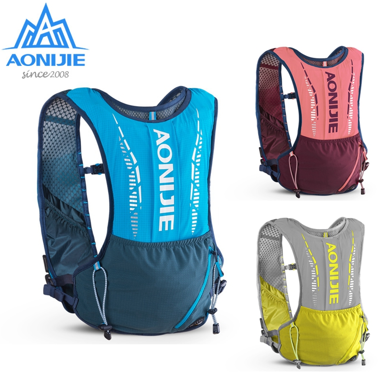 AONIJIE 5L Hydration Backpack Ultralight Vest Bag Soft Water Bladder Flask Set C9102 For Outdoor Hiking Trail Running Marathon