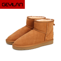 Australia Women Snow Boots 100% Genuine Cowhide Leather Ankle Boots Warm Winter Boots Woman shoes large size 34 44
