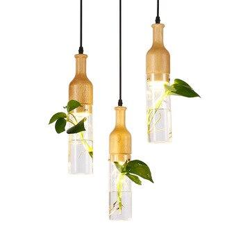 Lampe végétale suspendue