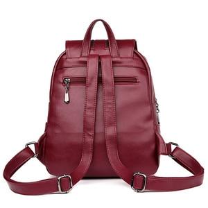 Image 4 - 2019 Bagpack Luxury Women Backpacks School College Bags For Teenager Girls Back Pack Leather Travel Backpack Mochila Feminina