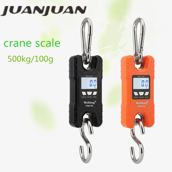 150/200/500kg Crane Scale Heavy Duty Hanging Weighting Hook Scales Portable LCD Electronic Digital Industrial Crane Scale 40%off