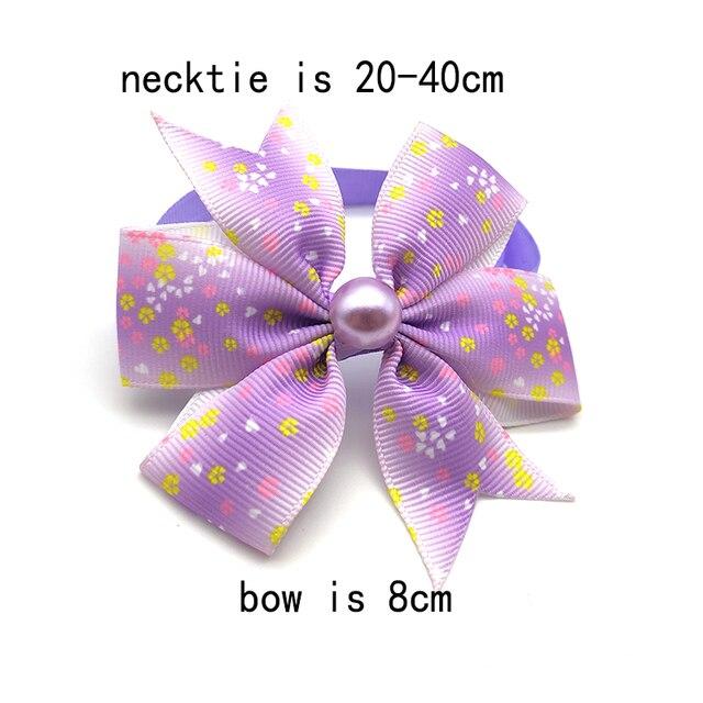 галстук бабочка для щенка 50/100 шт галстук милый бант с жемчугом фотография