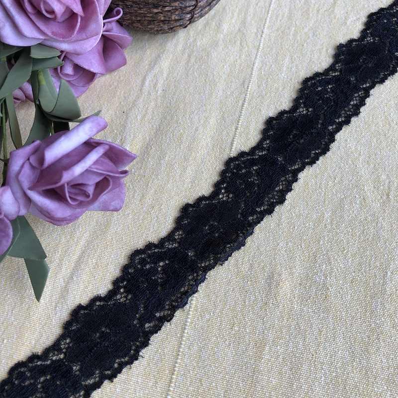 Siyah deldi 3.5cm S1771lace kumaş süsü şeritler diy dikiş konfeksiyon düğün dekorasyon aksesuarları malzemeleri