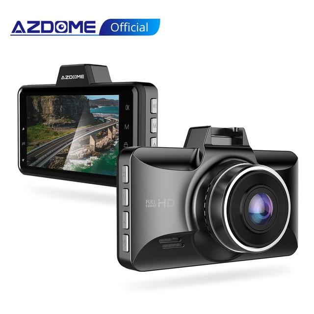 Azdomm01 برو داش كام 3 بوصة 2.5D IPS شاشة مسجل سيارة DVR كامل HD 1080P سيارة مسجل فيديو داشكام داش كاميرا سجل