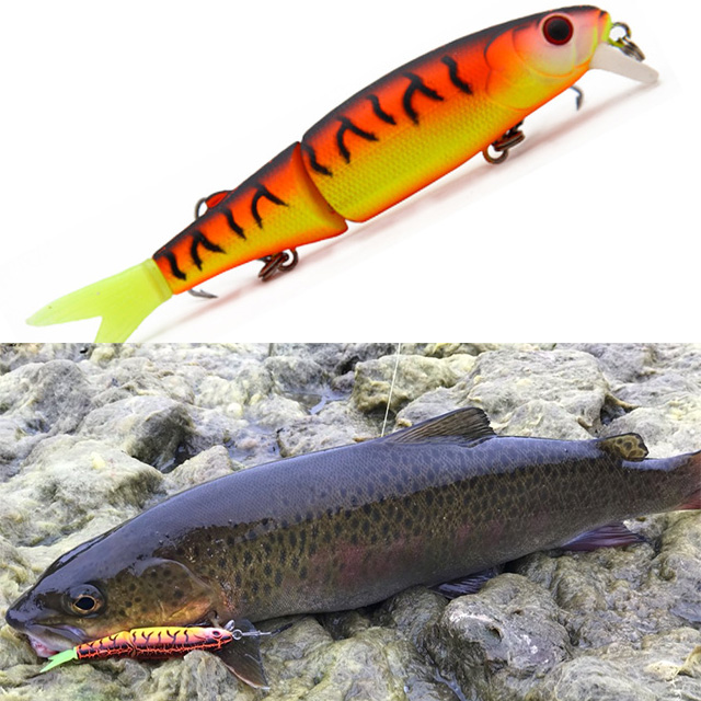 Hunthouse Fishing Lures Wobber Pike Fishing Jointed Bait With Hook For Bass Fishing And Freshwater Fishing Lw109 113mm