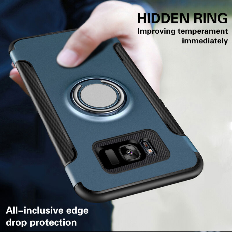 Luxury Bracket Ring <font><b>Shockproof</b></font> <font><b>Case</b></font> For <font><b>Samsung</b></font> Galaxy S8 <font><b>S9</b></font> PLus Full Cover For <font><b>Samsung</b></font> Note 8 9 TPU Soft Silicone Holder <font><b>Cases</b></font> image