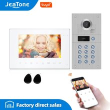 Jeatone 7 дюймов 960p/ahd tuya wi fi видеодомофон для домашней