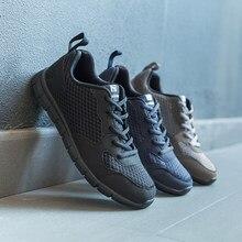 NIDENGBAO męskie obuwie grube wygodne buty z siatką męskie obuwie spacerowe lekkie męskie tenisówki Plus duże rozmiary 47 48 49 50