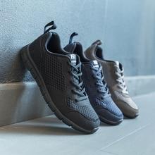 NIDENGBAO zapatos informales de malla para hombre, calzado liviano para caminar, talla grande 47 48 49 50