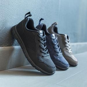 Image 1 - NIDENGBAO zapatos informales de malla para hombre, calzado liviano para caminar, talla grande 47 48 49 50