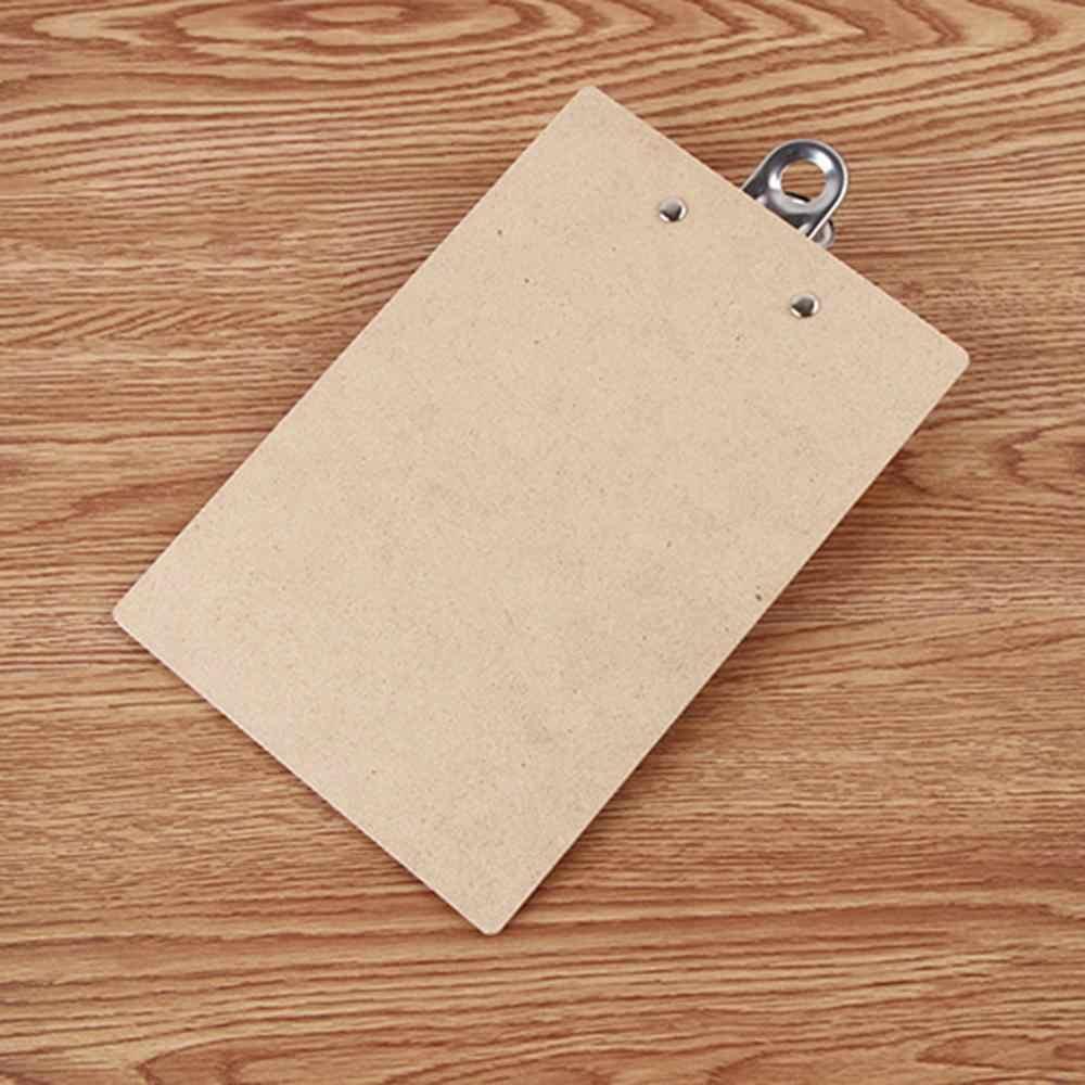 Baru A4 Ukuran Kayu Clipboard Papan Klip Sekolah Alat Tulis Kantor dengan Lubang Gantungan