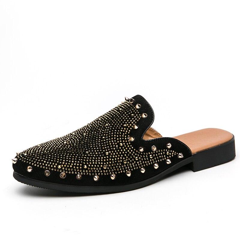studded men leather shoes designer italian party evening oxfords elegant male dress moccasins vintage spiked pointed shoes man (17)