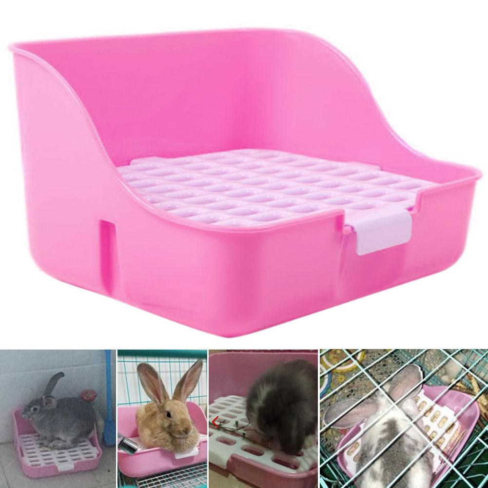 Small Pets Hamster Rabbit Toilet Potty Trainer Fixable Cage Tray Litter Box