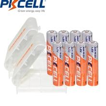 8個pkcell aaa 900mWhバッテリー1.6vはnizn充電式電池aaa ni zn系充電2pc aaa/単三電池ケース/ボックスおもちゃ