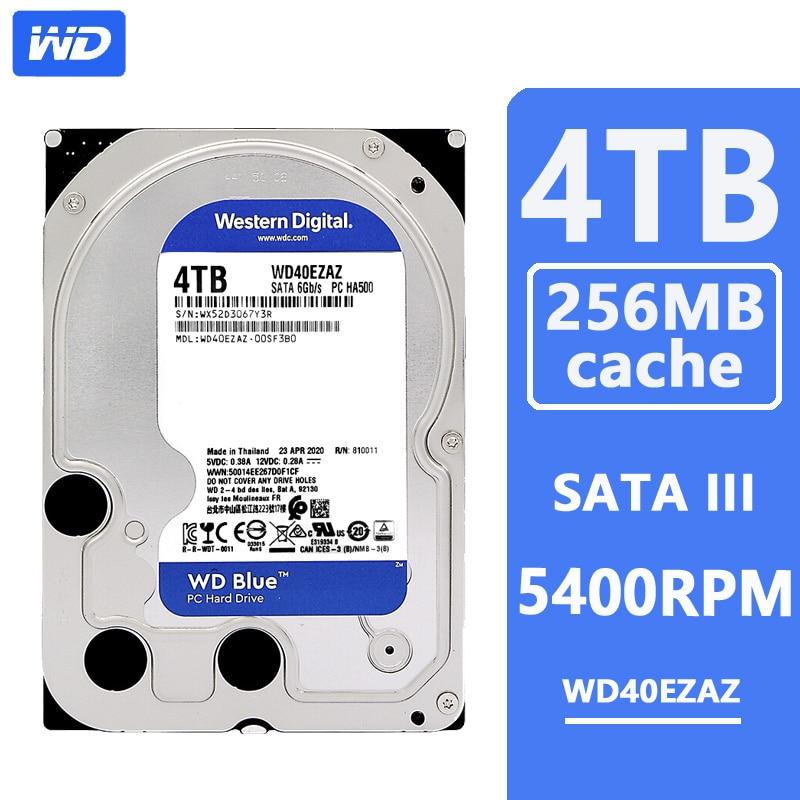 WD Blue 4 ТБ жесткий диск на жестком диске HD SATA III 256MB Кэш 5400 оборотов в минуту 4 ТБ 3,5»; Большие размеры 35-станция для жесткого диска для настольных...