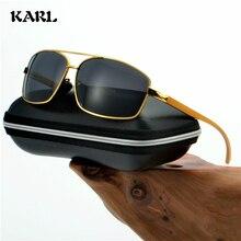 Men Polarized Sunglasses Women Vintage Aluminum Magnesium Square Sun Glasses Photochromic Driving Night Vision
