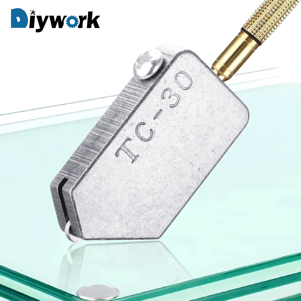 DIYWORK Glass Straight Cutting TC-30 Glass Cutter Head Replacement Accessories Cutting Tool Tile Straight Cutting For 2-8mm