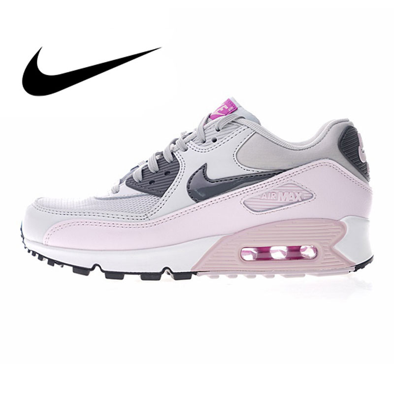 Nike Air Max 90 Women's Running Shoes Outdoor Sneakers Shoes, Pink, Abrasion Breathable Resistant Shock Absorption 616730-112