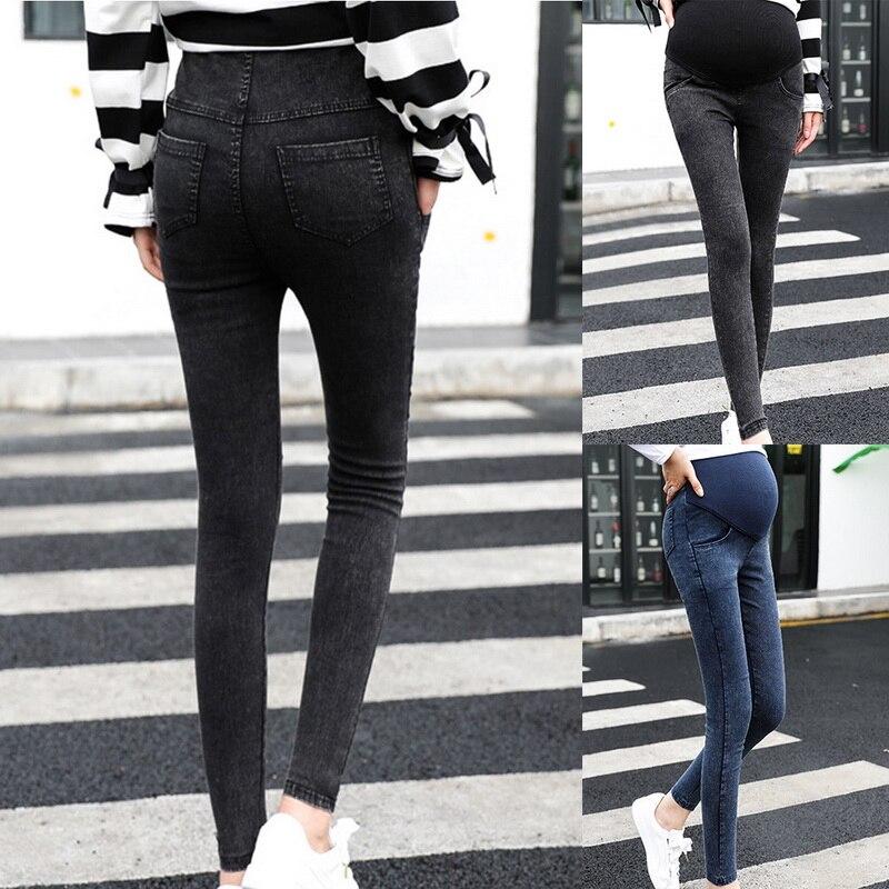 Oeak Jeans Women Pregnancy Maternity Clothing Black Pants For Pregnant Women Clothes Nursing Trousers Denim Jeans Womens