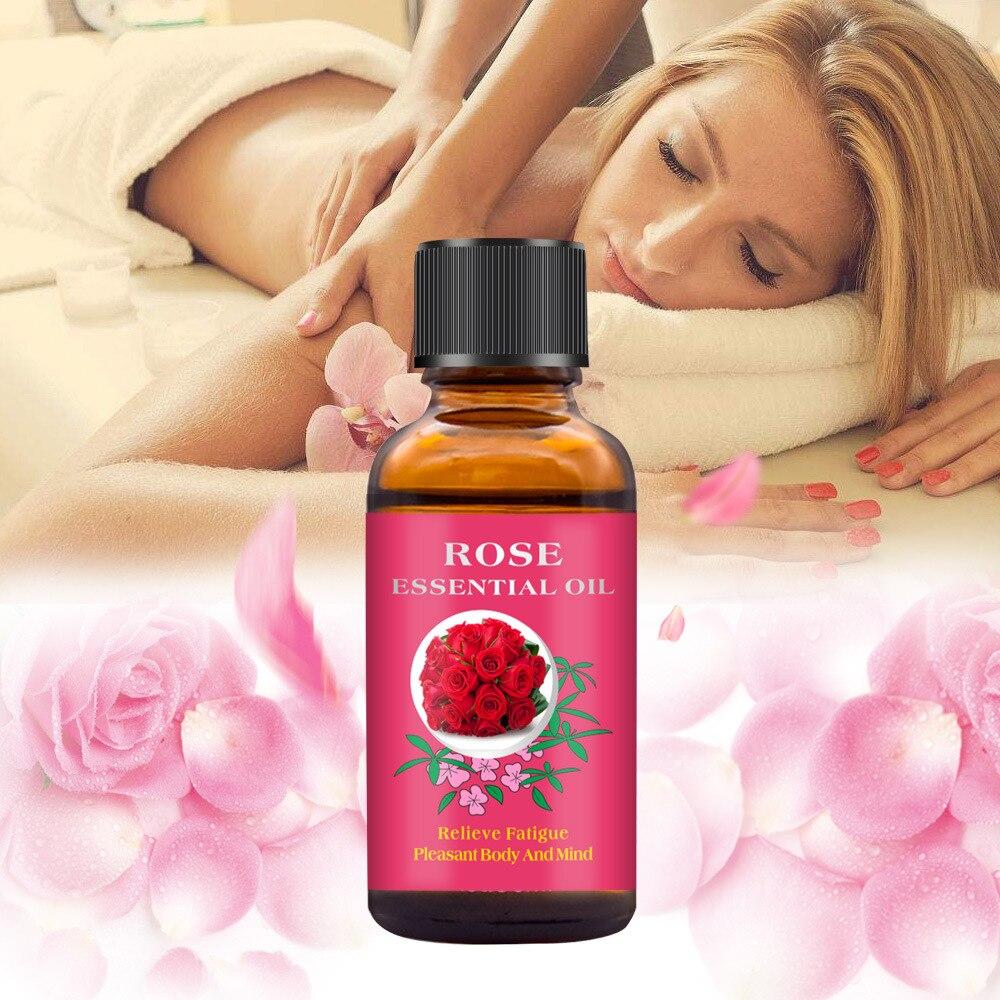 Cibee huile essentielle de Massage à la Rose végétale Pure pour le rasage thérapie thermique SPA aide au sommeil soins de la peau huile essentielle 30ml