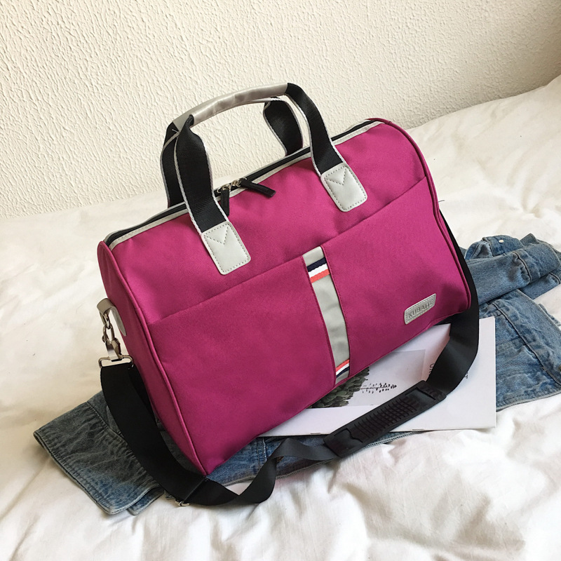 Creative Colour-Coloured Outdoor Travel Bag With New Leisure And Large Capacity Handbags In 2019