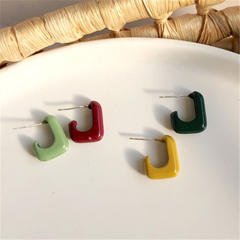 Fashion New Spring Summer Colours Personality Joker Contracted Web Red Female Stud Earrings Cute Romantic Earrings For Women